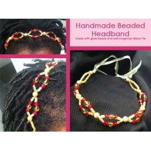 Beaded w/ Ribbon Tied Headband
