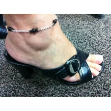 Jodie Wearing Custom Anklet