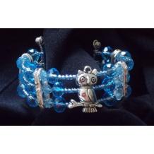 Sitting Owl Cuff Bracelet
